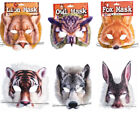 Fur Masks Jungle Theme Fancy Dress Halloween Childs Adults Animal Book Day Week