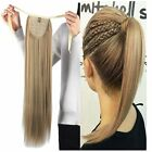 Silky Straight High Ponytail Clip in Indian Remy Human Hair Extensions 80g