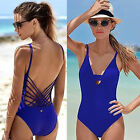 New Women's Swimwear Bathing Monokini Push Up Padded Bikini One Piece Swimsuit