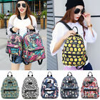 Women Canvas Shoulder School Bag Backpack Girl Travel Satchel Rucksack Handbag