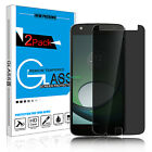 Privacy Anti-Spy Tempered Glass Screen Protector for Motorola Moto Z Play /Droid
