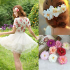 2Pcs Peony Flower Hair Clips Brooch Vintage Bridal Wedding Prom Hair Accesories