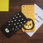 3D Lion Cartoon Soft Silicone Case Back Cover Skin For iPhone 6 6S 7 / Plus