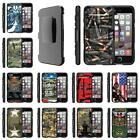 For Apple iPhone Case Rugged Armor Hybrid Holster Belt Clip Military War