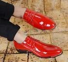 Fashion Men's Pointy Toe Wedding Dress Shiny Formal Lace up Shoes Oxfords New