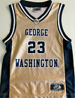 GEORGE WASHINGTON COLONIALS MENS BASKETBALL JERSEY NEW! NCAA #23 MEDIUM, LARGE