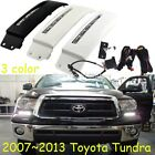 2x LED daytime running light with fog lamp cover for 2007-2013 Toyota Tundra