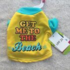 Get Me To The Beach SPF 25 Dog Shirt Soft Bright Yellow Top Paw