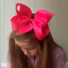 6 INCH GIRLS EXTRA LARGE HAIR BOW HAIR CLIP PIN ALIGATOR CLIPS GROSGRAIN RIBBON