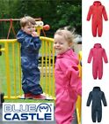 Children Kids Boys Girls Waterproof Breathable Hooded Play Rain Puddle Suit