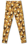 Black and Gold Lions Head King Brown Orange LIONS Simba Buttery Soft LEGGINGS
