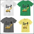 Kids Tee Bulldozer Tractor Construction Party Birthday Gift Boys Infant T-Shirt