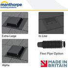 Manthorpe Slate Roof Vents | Alpha | Extra Large | In Line | Flexi Pipe Option