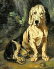 A Seated Basset Hound ~ Dogs, Constant Troyon ~ Cross Stitch Pattern