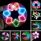 LED Flash Light Fidget Hand Spinner Finger EDC ADHD 18 Pattern Changing Toys ST