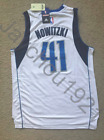Dirk Nowitzki Dallas Mavericks Swingman Sewn On White Jersey NWT