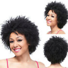 US Women Ladies Party Cosplay Synthetic Short Curly Front None Lace Wigs Hair
