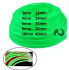 3mm-40mm Fluorescent Green Braided Cable Sleeving/Sheathing/Auto Wire Harnessing