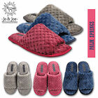 Ladies Womens Soft Peep toe Fleece  Mule Slippers Fleece UK Sizes 3 4 5 6 7 8
