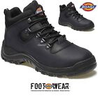 MENS DICKIES FURY SAFETY SHOES WORK HIKER ANKLE LEATHER BOOTS STEEL TOE CAP