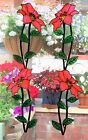 CLEMATIS STAINED GLASS EFFECT WINDOW CLING DOOR DECORATION MOTIF PEELABLE DECOR