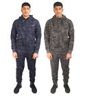 Mens Camouflage Gym Full Tracksuit Jogging Top Bottoms Hoodie Set Fleece Joggers