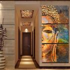 3Pcs/Set Oil Painting Buddha Figure Home Decoration None Frame Art Portrait