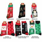 Men's Ugly Christmas Sweater Socks Santa Snowman Reindeer Gingerbread Penguin