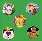 15 Sweet Animals - Large Stickers - Party Favors - Cow, Giraffe, Cat, Dog, Panda