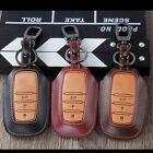 Genuine Leather Remote Key Cover Case For Toyota Highlander Camry Crown 3 Button