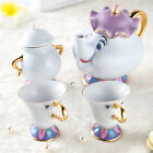2017 Disney Beauty and The Beast Mrs. Potts & Chip Tea Pot And Cup sugar set