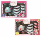 Childrens Tin 15 Piece Tea Set Teaset Toy Playset Bunny / Bear Style 3+