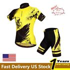 Men Cycling Bike Bicycle Sports Clothing Short Sleeve Jersey Pants Wear Suit Set