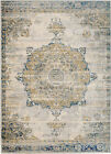 MODERN NEW BLUE MEDALLION - AREA RUG, APROX SIZE OPTIONS 2'X3' 2'X7' 4'X5' 5'X7'
