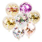 "12"" 5X Clear Confetti Filled Balloons Helium Luxury Birthday Party Wedding Decor"