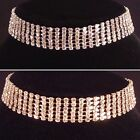 Gold/Silver Bling 6 Row Choker Necklace,bridal,bridesmaid,prom,party SV16-006