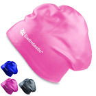 Swimtastic Long Hair Swim Cap Purple Specially Designed for Swimmers with Thi