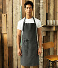 Denim Bib Apron - Catering Pub Bar Cafe Restaurant Waiter Waitress Kitchen