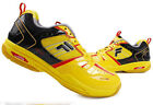 FILA Unisex Badminton Shoes Fvolant-1500D Racquet Sports Yellow Black NWT