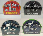"""NFL Home Sweet Home Wincraft 11"""" x 9"""" Wooden Arch Sign Slide Hang on eBay"""