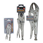 "KING 5"" - 10"" - 12"" VISE GRIPS, Curved Jaw Locking Pliers - Steel Clamp, NEW"