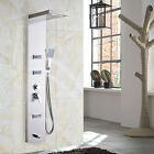 Thermostatic Wall Mount Shower Panel Column Rainfall Body Jets Hand Unit Tower