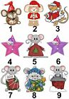 Christmas Mouse Design Small or Large Sticky White Paper Stickers Labels NEW