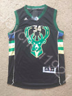 Giannis Antetokounmpo Milwaukee Bucks Black Swingman Sewn On Jersey NWT