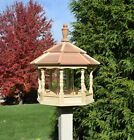 Large Spindle Gazebo Bird Feeder Wood Amish Homemade Handcrafted
