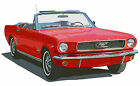 Ford 1966 Mustang Convertible canvas print Richard Browne 2 colors available