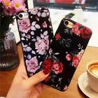 Floral Pattern Rubber Soft TPU Silicone Case Cover For iPhone XS Max XR X 8 7 6S