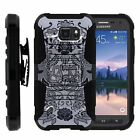For Samsung Galaxy S6 Active G890 Rugged Hybrid Holster Belt Clip Case Armor
