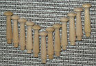 """1 3/4"""" Inch Small Premium SHAKER Style WOOD PEGS Unfinished Lot 12/25/50/100 NEW"""