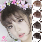 Thin Neat Air Bangs 100% Real Human Hair Clip in Front Fringe Hair Extensions